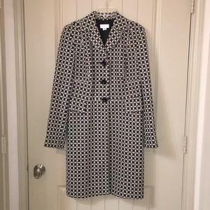 LOFT long wool blazer dress coat 124999 sz 6